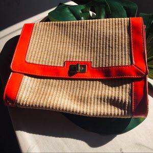 H&M Clutch Straw Bag